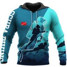 Homem/mulher harajuku moda mergulho arte 3d todo impresso hoodies moletom com capuz moda outono jaqueta casual