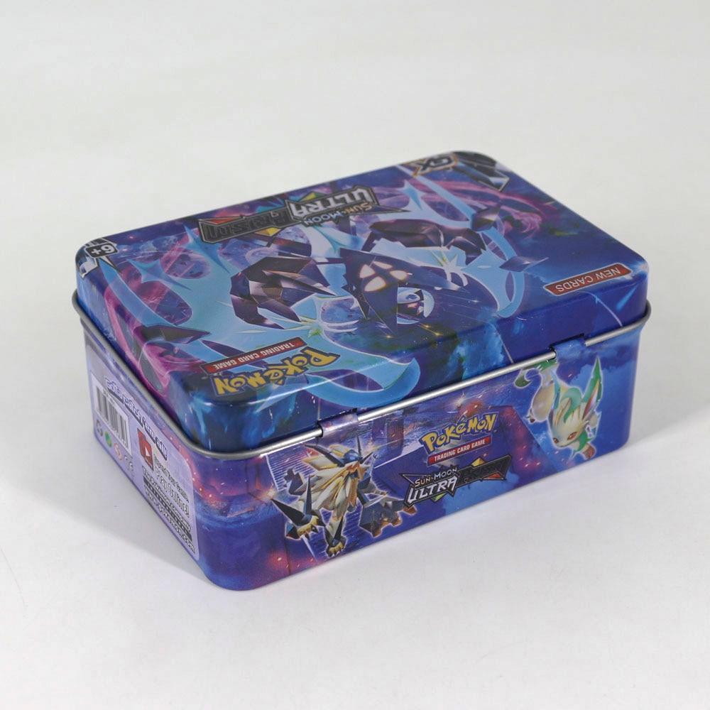 Takara Tomy 42 pièces cartes Pokemon pour enfants jouer carte jouet Collections métal boîte VIP carte or