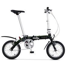 Dobrável bicicleta dahon bicicleta glo bya412 dove uno quadro da liga de alumínio 14 Polegada única velocidade super leve transporte cidade commuter mini
