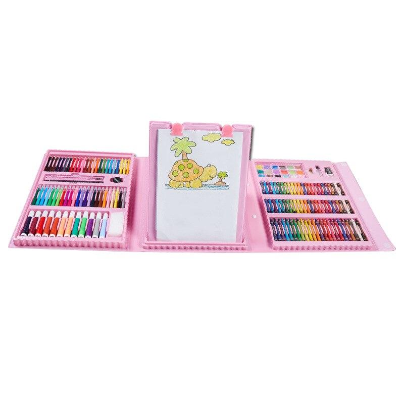 176Pcs/Set Painting Graffiti Paint Brush Kit Kids Art Entertainment Toys with Easel DQ-Drop