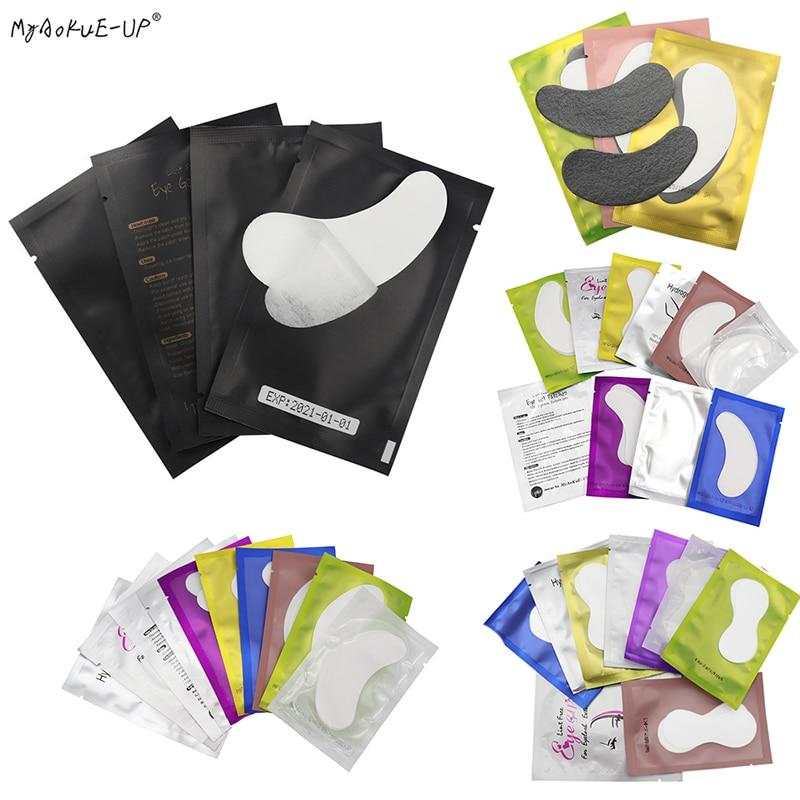 Hot Sale 50/100 Pairs Eyelash Pad Gel Patches For Eyelash Extension Under Eye Pads Eye Tips Paper Sticker Wraps Makeup Tools
