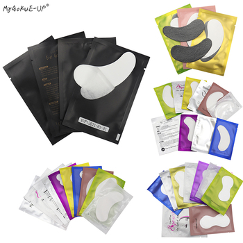 Hot Sale 50/100 Pairs Eyelash Pad Gel Patches For Extension Under Eye Pads Tips Paper Sticker Wraps Makeup Tools