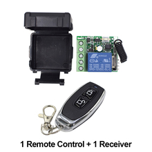 цена на 1Pcs RF Transmitter 433 Mhz Remote Controls with Wireless Remote Control Switch DC 12V 1CH relay Receiver Module