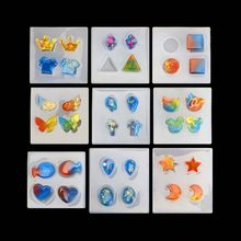 Earring Epoxy Silicone Mold Many Types Jewelry Decorative Accessories Organic Jewelry Mold