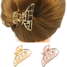 New Fashion Women Hair Claws Gold Metal Clip Claw for Barrettes Hairpin Crab Styling Tool Accessories