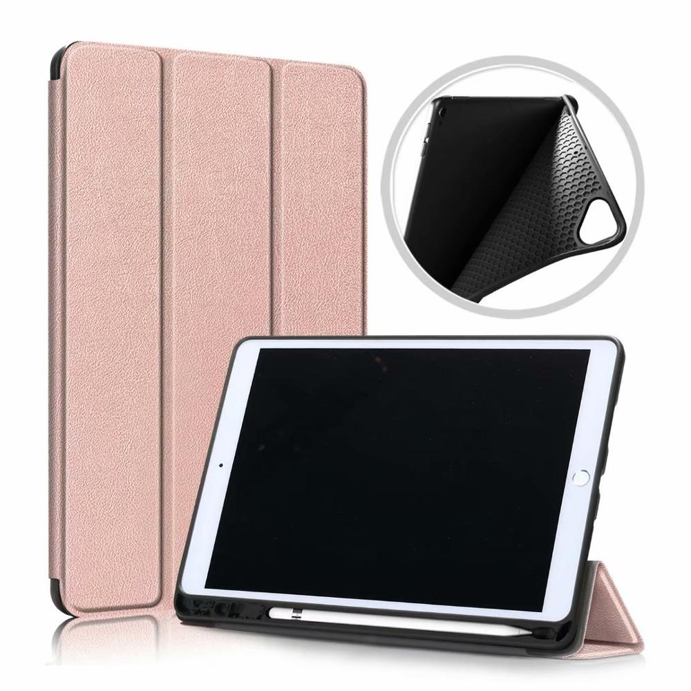 Rose Black Ultra Slim Coque For iPad 10 2 2019 Case A2200 A2198 A2232 Smart Magnetic Folding Stand