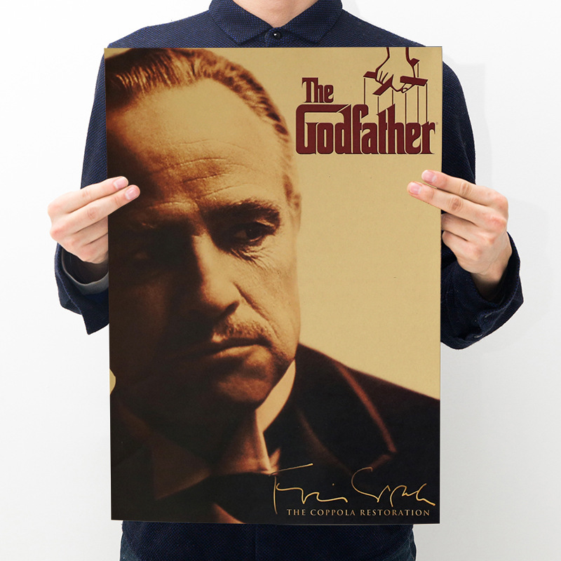 Movie Godfather Poster Kraft Star Character Series Room Decoration Hall Decoration Painting Wall Sticker