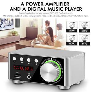 Image 5 - Nobsound Mini Bluetooth 5.0 güç amplifikatörü alıcısı Stereo 2 Ch ev ses araba Amp USB U disk müzik çalar 19V adaptörü
