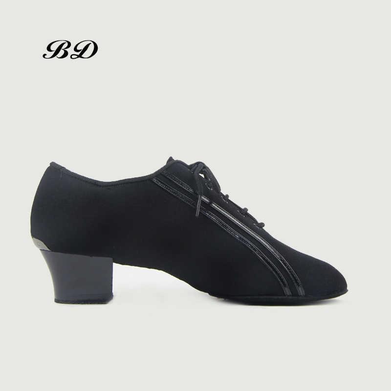 Top Dans Schoenen Mannen Latin Slangenhuid Ballroom Schoen Dans Hakken 4.5 Cm Kant High-End Dedicated Salsa Dansen schoenen Zak Gift Sok