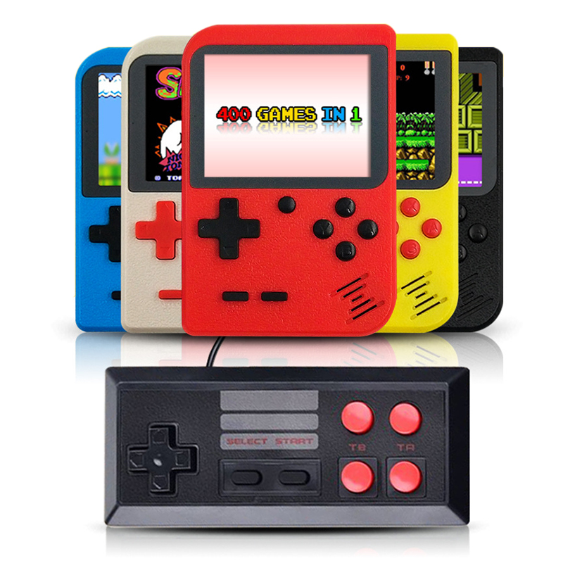 Retro Game Console Player on TV Mini Handheld Game Console 8-Bit 3.0 Inch Built-in 400 Games Box Classic Retro Gamepad Gift Kid