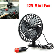 12V 4 Inch Mini Air Cooling Fan With Suction Cup Universal For Car Home Office Summer Adsorption Fan Air Cooler(China)
