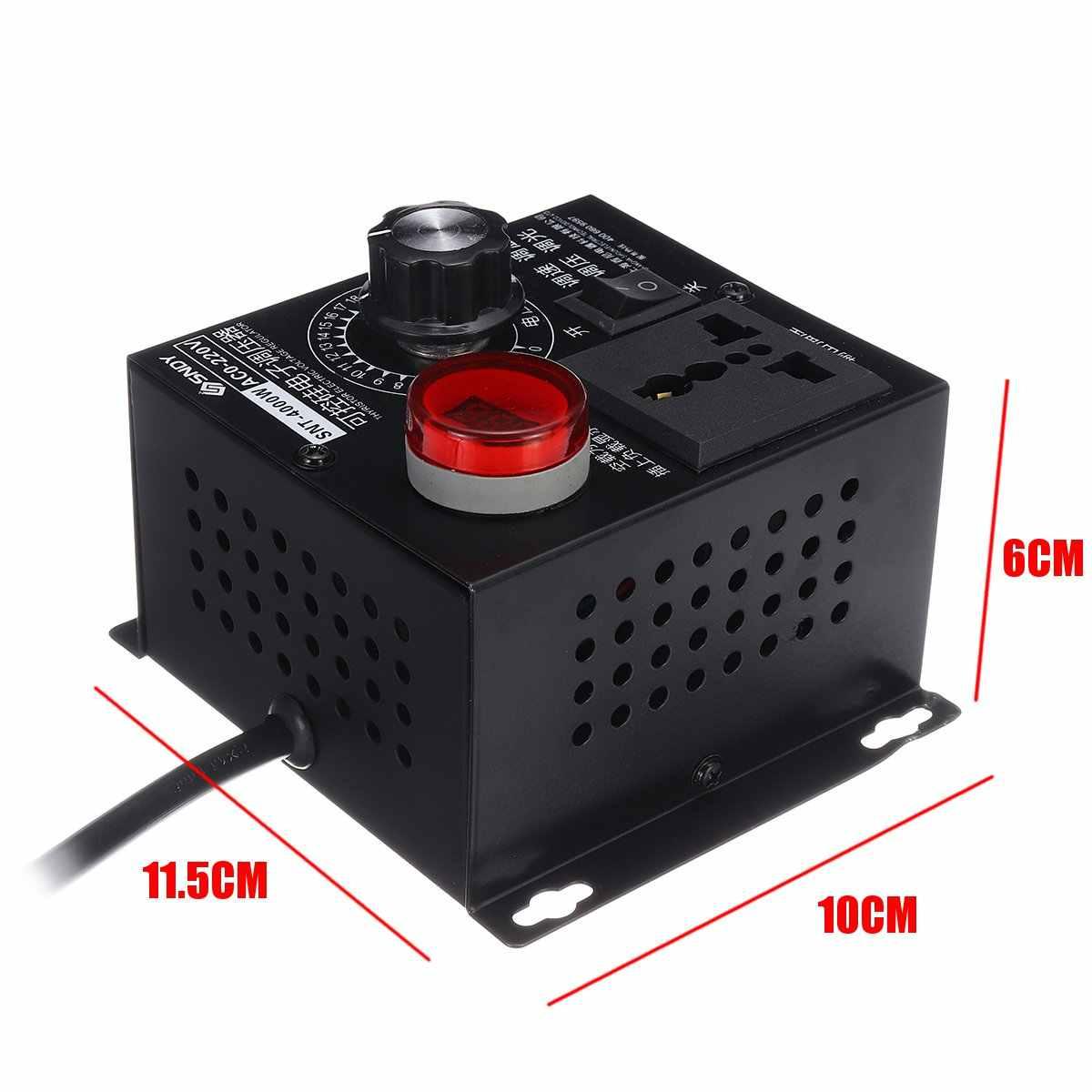 AC 0V-220V 4000 วัตต์ซิลิโคน Electronics แรงดันไฟฟ้า Machinery Electric VARIABLE SPEED CONTROLLER