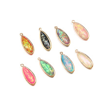 3Pcs Resin Pendants Water Drop Shape Hemming Pendant Multiple Colour for Jewelry Making DIY Necklace Accessorie Size 12x30mm