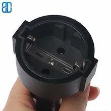 C14 EU gniazdo IEC320 C14 do ue Euro gniazdo IEC 320 C14 do CEE 7/7 europejska kobieta zasilanie prądem zmiennym UPS/PDU przewód zasilający Adapter