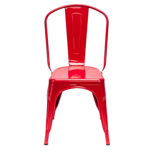 4PCS Industrial Style Red Chair  3