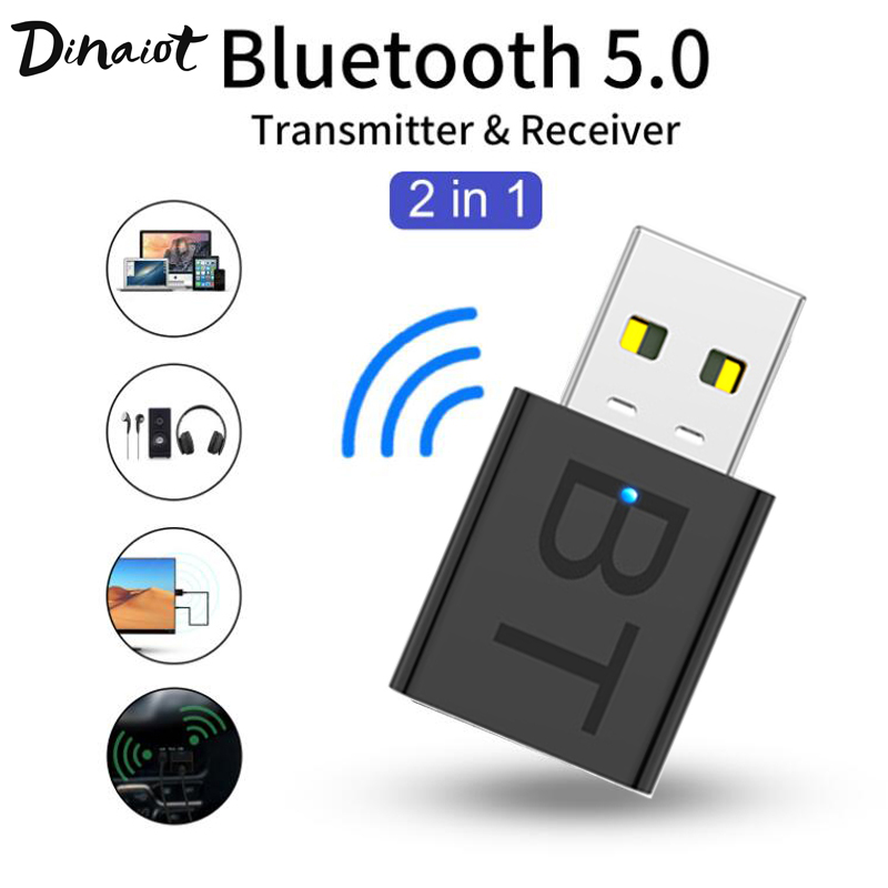 <font><b>USB</b></font> <font><b>Bluetooth</b></font> Dongle Adapter <font><b>5.0</b></font> for PC Computer Laptop Speaker Wireless Music Audio Receiver Transmitter image