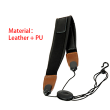 Neck Strap for Saxophone Adjustable Soft Leather with EVA Padded Metal Hook Accessories