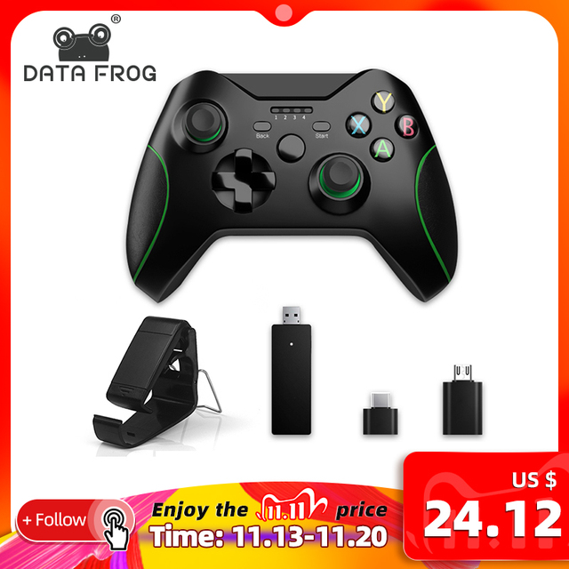 נתונים צפרדע 2.4G Wireless Controller עבור Xbox אחד קונסולת עבור PS3 עבור אנדרואיד טלפון Gamepads משחק ג ויסטיקים עבור מחשב win7/8/10