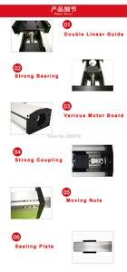Image 5 - Free Ship 50 400mm Effective Stroke 1204 1605 1610 Ballscrew Sealed Dustproof Linear Guide Rail Motion Slide Module CNC XYZ Aixs