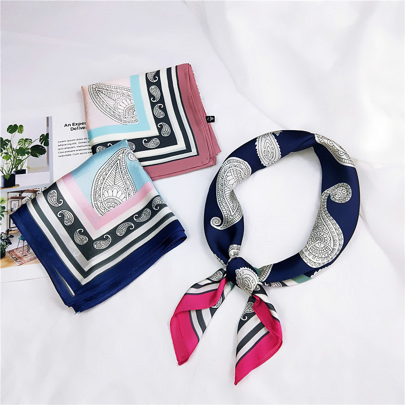 New Style 70 Cashew Small Square Towel Small Silk Women's Spring And Autumn Summer Versatile Korean-style Headscarf Neckerchief