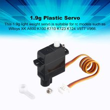 цена на Hot 1.9g Plastic Servo for Wltoys XK A600 K100 K110 K123 K124 V977 V966 RC Helicopter Airplane Drone RC Model Toys Hobby Parts