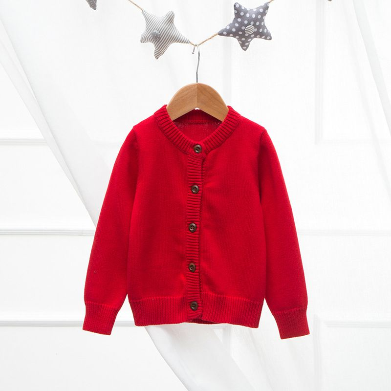 Toddler Girl Cardigan Sweater Wooden Button Cardigan for Girls,18M-6T