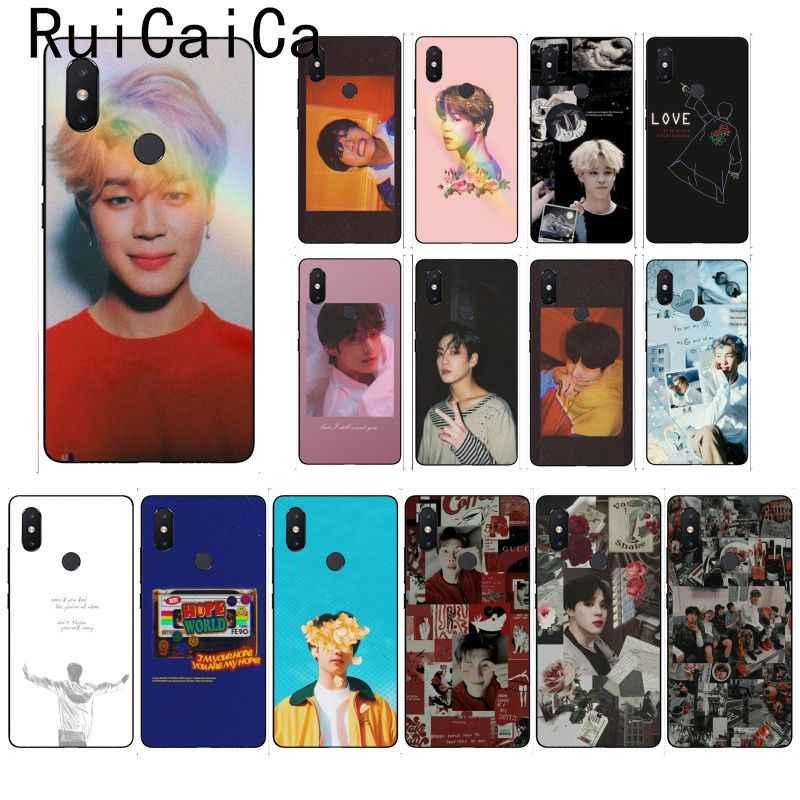 حافظة هاتف من Ruicaica KPOP Jin SUGA j-هوب RM Jimin V JungKook لهاتف شاومي Mi 6 Mix2 Mix2S نوت 3 8 8lite Redmi 5 نوت 5 نوت 4 4X