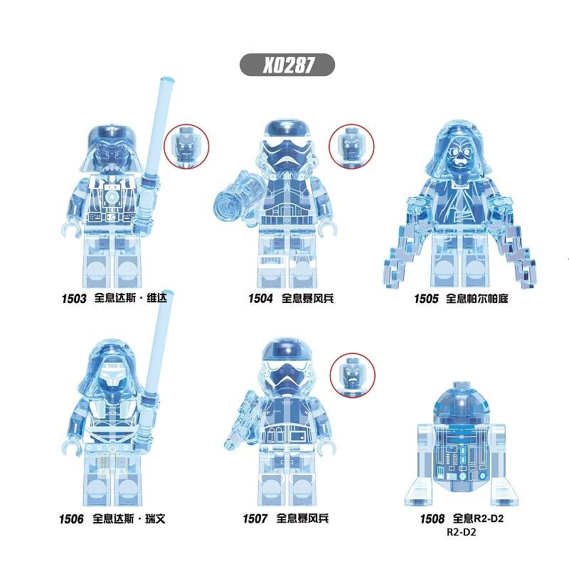 Building Blocks Wars Movie Poe Dameron The Man Rhoda Emperor Palpatine Rhoda Darth Vader Revan Figures For Children Toys X0287