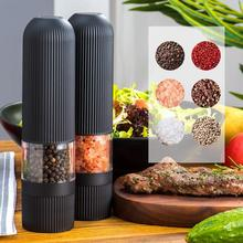 Salt-Pepper-Grinder Electric Automatic Pc with Adjustable Coarseness One-Handed 1pcs