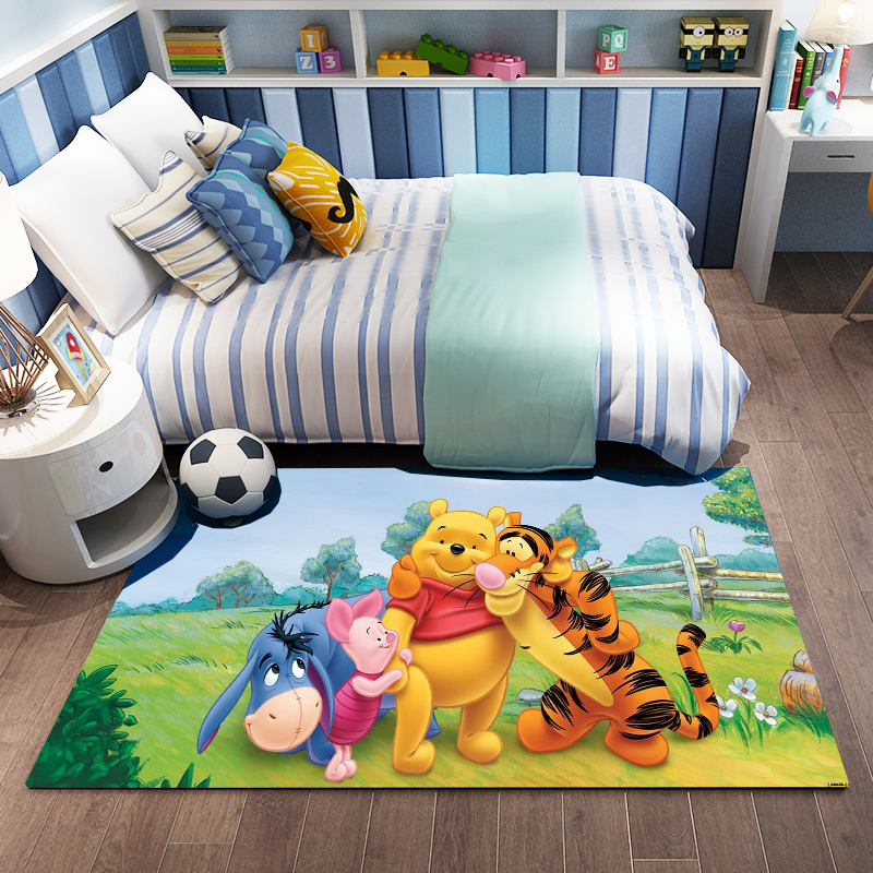 Cartoon Bear Rug 3D Print Playmat Soft Cozy Resin Thicken Kids Children Play Crawling Carpet For Living Room Large Rugs Doormat