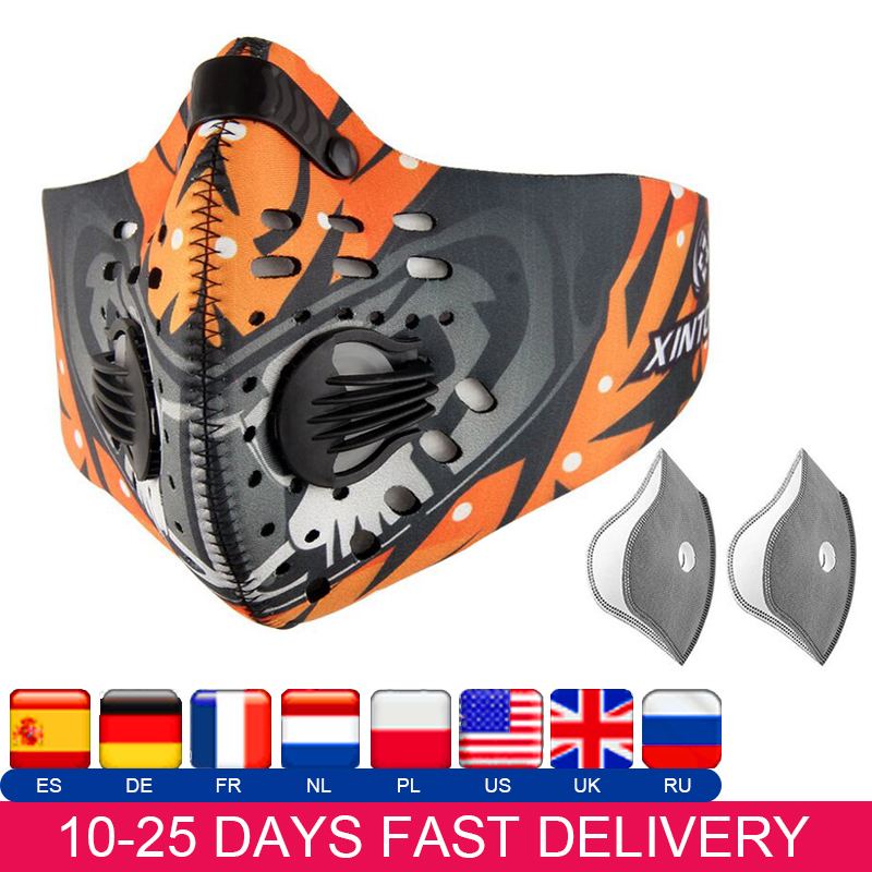 Cycling Mask Activated Carbon Dust-proof Mask Running Camping Hiking Skiing Bike Motorcycling Sports Mask
