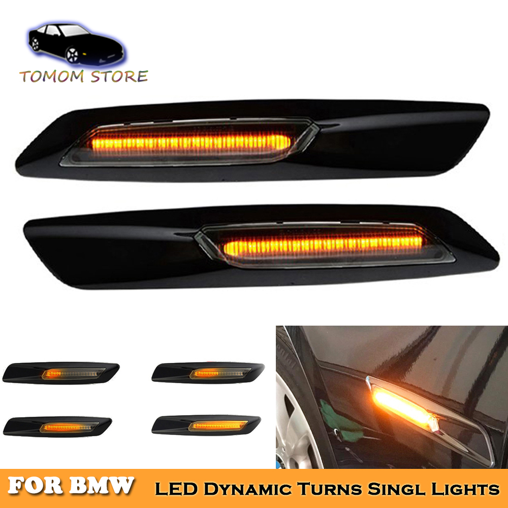 LED dynamic side marker turn signal sequential blinker indicator lights for BMW E81 E82 E87 E88 E90 E92 E93 E60 E61 X1 X3 E84 image