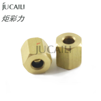 Jucaili 6 pcs DX5 ink damper copper Nut with rubber ring for EPSON DX4 DX5 xp600 for printer ink tube dumper Copper connector ink supply board for witcolor 9000 dx5 printer