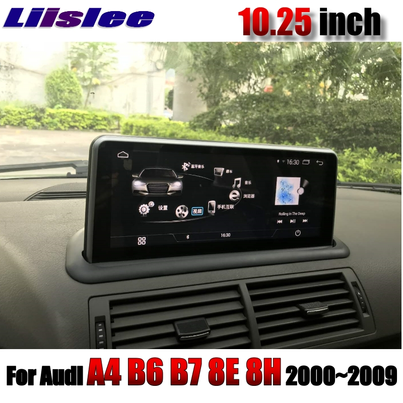 For <font><b>Audi</b></font> <font><b>A4</b></font> <font><b>B6</b></font> B7 8E 8H 2000~2009 LiisLee Car <font><b>Multimedia</b></font> CarPlay 10.25 inch WiFi GPS MAP Radio Original System Navigation NAVI image