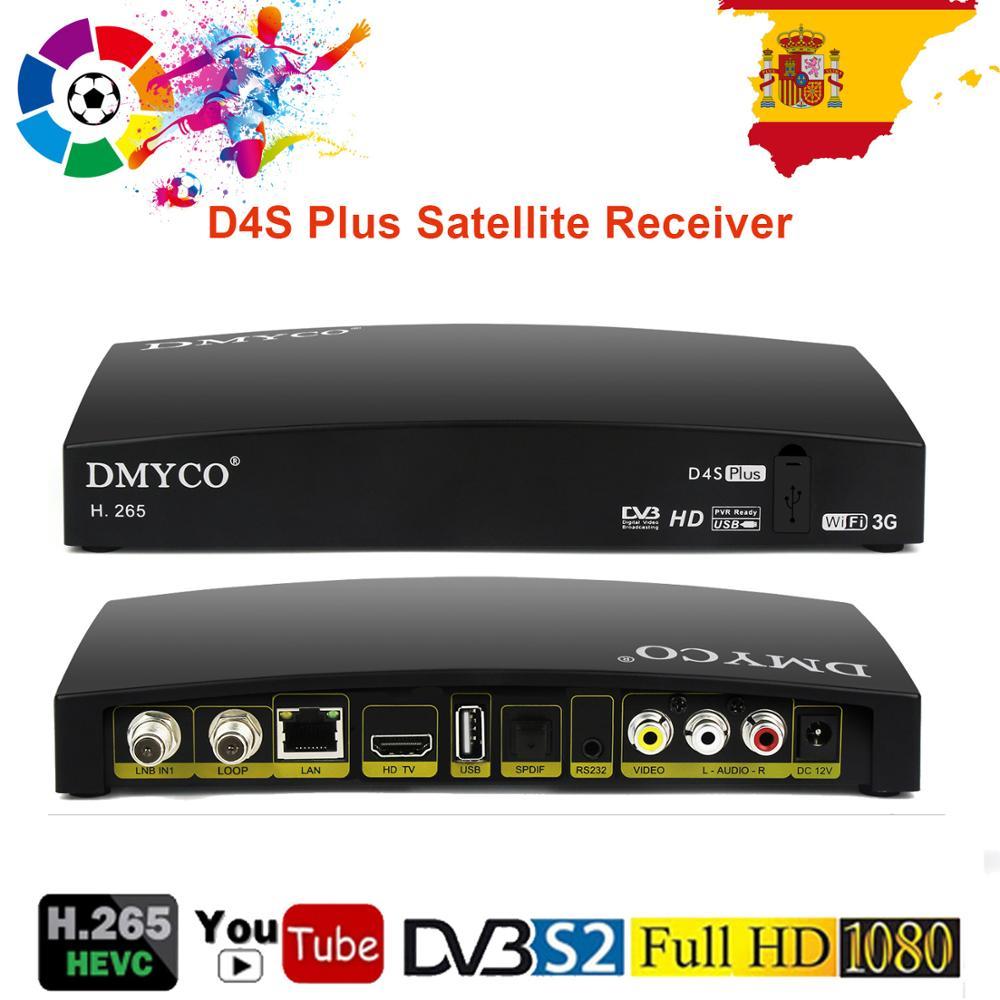 Tüketici Elektroniği'ten Uydu TV alıcısı'de 3 adet/grup D4S artı uydu alıcısı DVB S2 dijital TV Tuner WEBTV Biss anahtar 2 * USB yuvası Wifi 3G ile aynı OPENBOX V8S reseptör title=