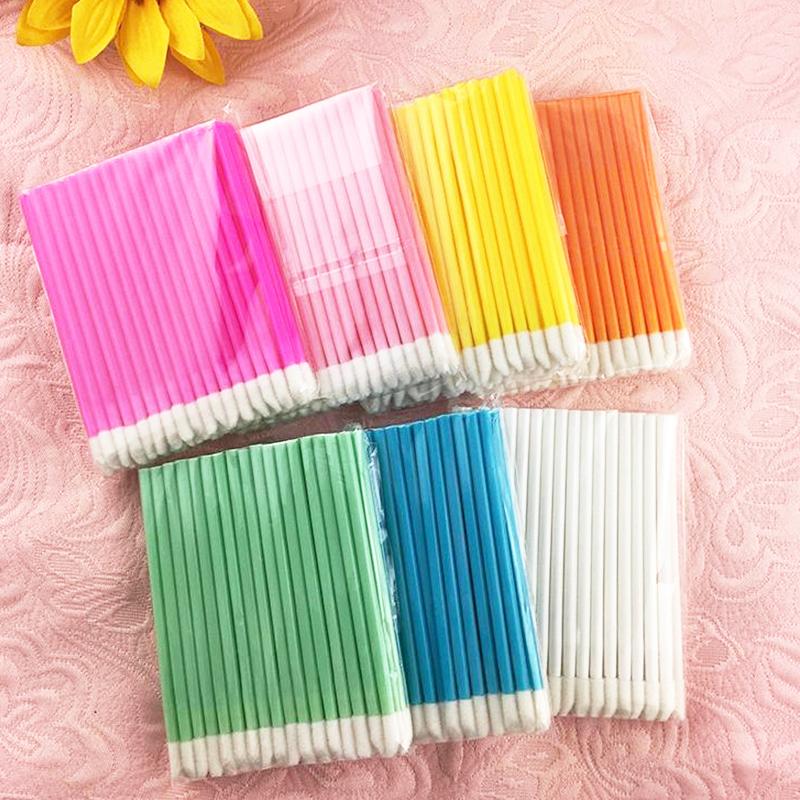 50pcs Disposable Make Up Lip Brush Lipstick Gloss Wands Applicator Makeups Lip Brushes Portable Extension Cosmetic Beauty Tool