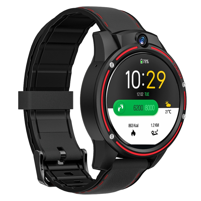 KOSPET Vision 3GB 32GB 5.0MP Dual Camera GPS Sport Android Smart Watch 1.6 Inch 800MAh Bluetooth Smartwatch Men for IOS Android