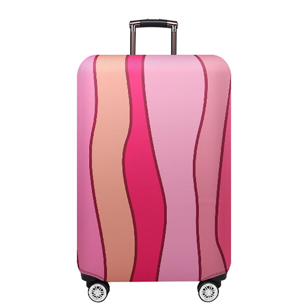Thicker Travel Luggage Protective Cover Trunk Case Apply To 18''-32'' Suitcase Wave Pattern Travel Leather Box Jacket Dust Cover