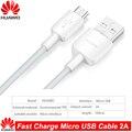 Оригинальный кабель Micro USB HUAWEI для быстрой зарядки, поддержка 5 В/9 в 2 А, дорожная Зарядка для HUawei P7 P8 P9 P10 Lite Mate 7 8 s Honor 8X 8C