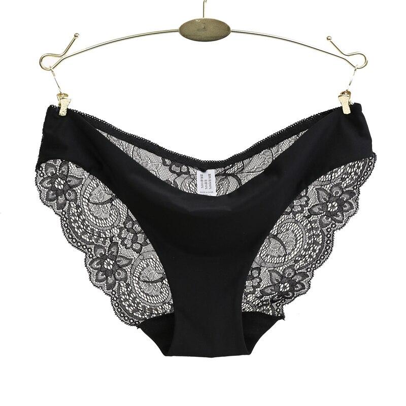 Sexy Lace Woman Panties Plus Size Panty Transparent Cotton Crotch Briefs Ladies Low-Rise Underwear Intimates New Hot Sale