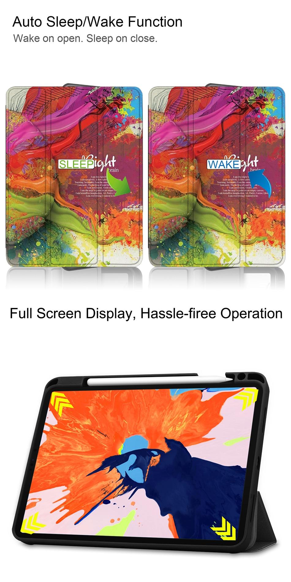 A2229 12.9 iPad Release 4th Back MTT Pro TPU For Case Leather Soft 2020 PU A2233 Gen