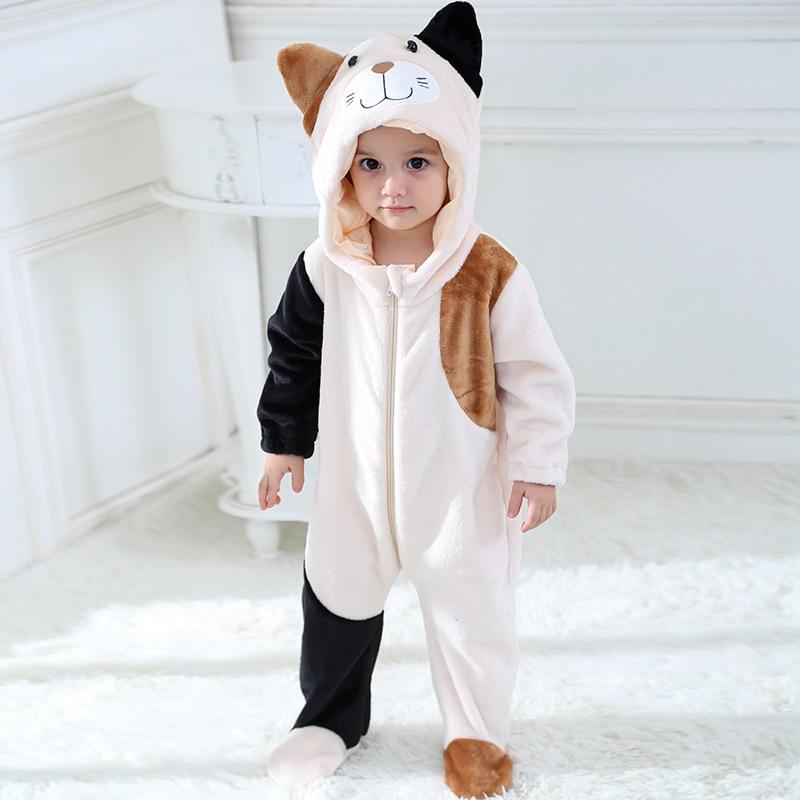 SAILEROAD Baby Cat Kigurumi Animal Cartoon Cosplay Costume Infant Child Bodysuit Onepiece Onesie Flannel Comfortable Kigurumi