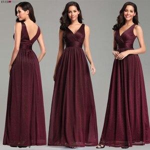 Image 5 - Ever Pretty vestidos de noite decote em V,, a linha, sem mangas, comprido até o chão, EZ07764NB, vestido de festa robe