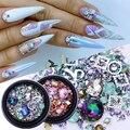 1 коробка 3D Стразы для ногтей разных размеров красочные Переводные картинки для творчества кристаллы для дизайна ногтей украшения для твор...