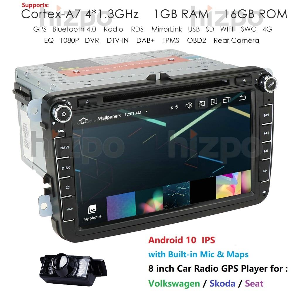 Car Radio Head Unit 8''For Volkswagen/Magotan/VW Passat B7 B6 CC 2 Din Android 10 DVD Autoradio Multimedia GPS Navigation 1GBRAM