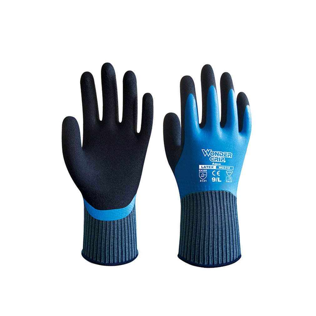 Wonder Grip WG-318 Universial Anti-cut Gloves Safety Cut Proof Resistant Waterproof Garden Safety Emulsion Gloves NEW Arrival