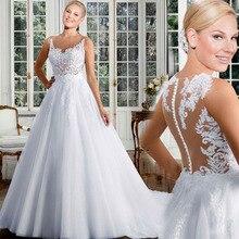 Elegant Plus Size White Saudi Arabia Wedding Dress Button Back Bridal Gown vestido de casamento