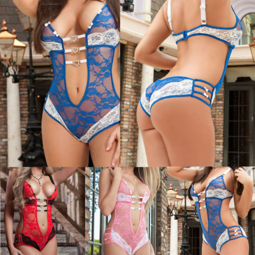 New Sexy Lace Sexy Lingerie Suit Ladies Thong Summer Pajamas Hollow Love One-Piece Sexy Lingerie Clothing