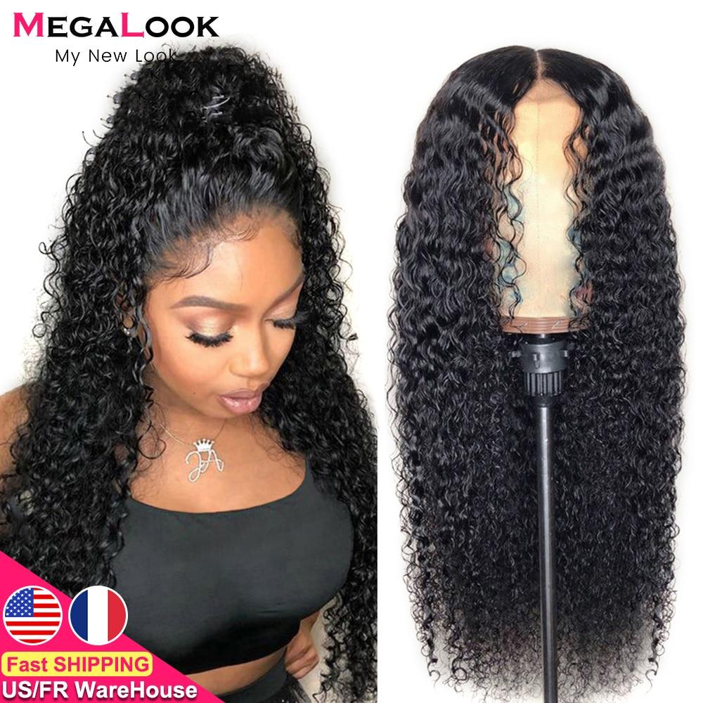 Парик из вьющихся человеческих волос, парик из человеческих волос на сетке спереди, парики для черных женщин, парик с застежкой на сетке 30 дю...