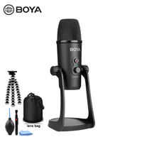 BOYA BY PM700 USB Condenser Microphone with Flexible Polar Pattern for Windows and Mac Computer Recording Interview